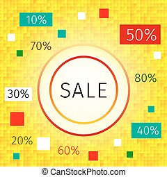 Promotional discount / sale background