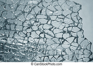 broken glass - The broken glass with drops is strongly dim