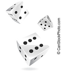 Rolling dice - Illustrated rolling dice. File includes...