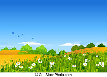 Summer Landscape. Use the illustration the way it is or use...