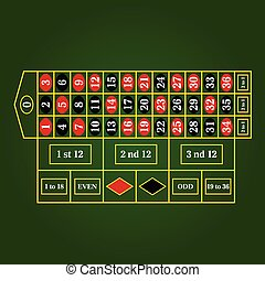 roulette table for gambling illustration