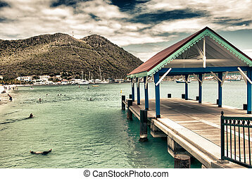 Saint Maarten Waterfront, Dutch Antilles - Saint Maarten...