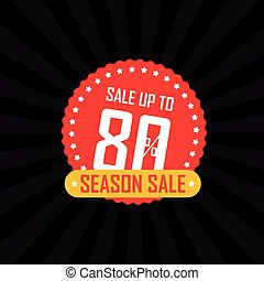 Season sale banner vector illustration. Sale up to 80...
