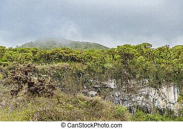 Volcano Depression, Galapagos, Ecuador