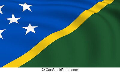 Flying Flag of SOLOMON ISLANDS | LOOPED |