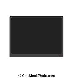 Large flat TV isolated. Modern televisor on white background