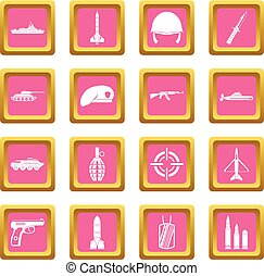 Military icons pink