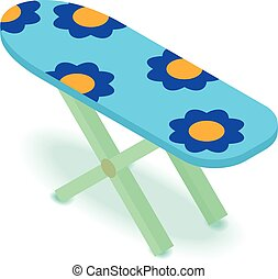 Ironing board icon, isometric 3d style - Ironing board icon....
