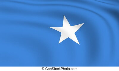 Flying Flag of SOMALIA | LOOPED |