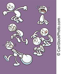 Cartoon actions - Generic character performing different...