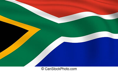 Flying Flag of SOUTH AFRICA | LOOPED |