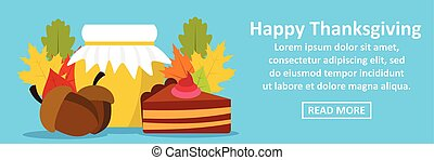 Happy thanksgiving banner horizontal concept