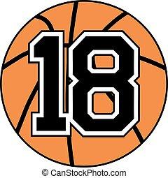 18 basket symbol - Creative design of 18 basket symbol