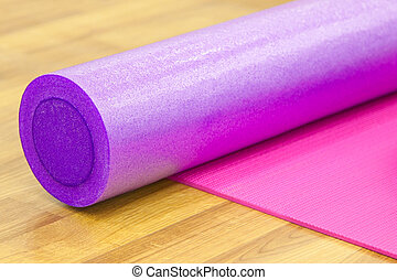 Yoga mat and roller