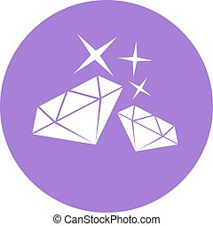 purple elegant diamond symbol