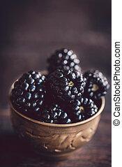 Group of blackberries