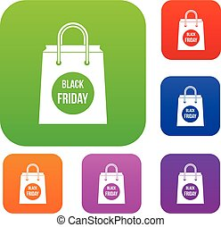 Black Friday shopping bag set collection