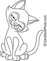 Outlined siamese cat - Outlined Siamese cat