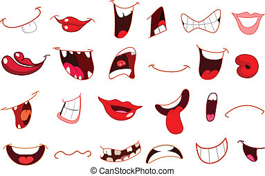 Cartoon mouths - Cartoon mouth set