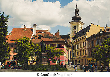 City of Sibiu in Romania, travel concept, Europ