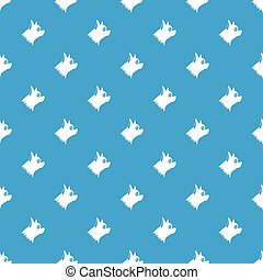 Pinscher dog pattern seamless blue - Pinscher dog pattern...