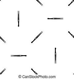 Tweezers pattern seamless black - Tweezers pattern repeat...