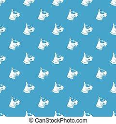 Bull terrier dog pattern seamless blue - Bull terrier dog...