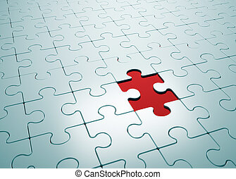 Puzzle game with missing piece- this is a 3d render...