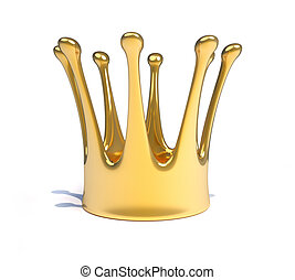 Royal crown - A gold royal crown - this is a 3d render...
