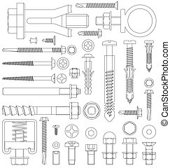 Outline fixings - Outline diagram of various fixings...