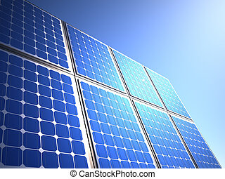 Solar panel - this is a 3d render illustration