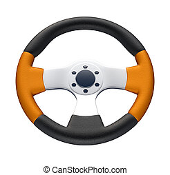 Racing Wheel - this is a 3d render illustration