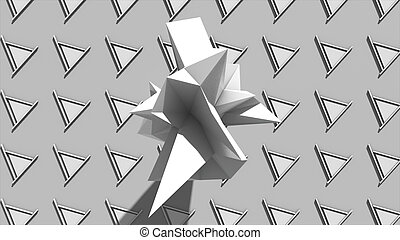 Abstract background with Fractal Geometric object