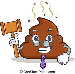Judge Poop emoticon character cartoon