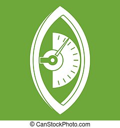 Hand power meter icon green - Hand power meter icon white...