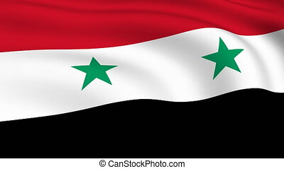 Flying Flag of SYRIA | LOOPED |