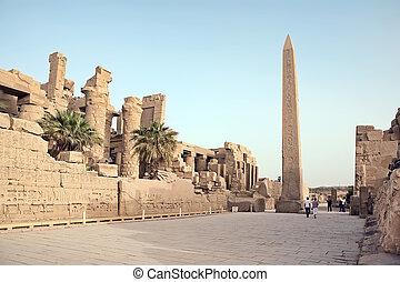 Obelisk in Karnak, Luxor, Egypt