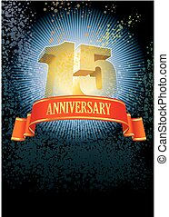 Fifteenth anniversary - Background with design elements for...