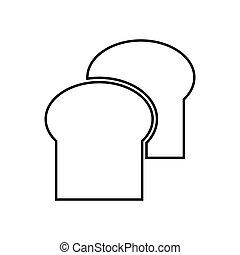 Bread black color icon . - Bread it is black color icon .