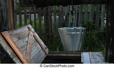 Russia well bucket water village - Russia well bucket and...