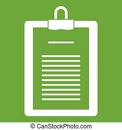 Clipboard with checklist icon green