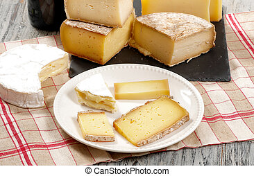 Different french cheeses Normandy and Savoie - the different...