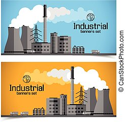 Industrial Enterprise Banners - Horizontal banners with...