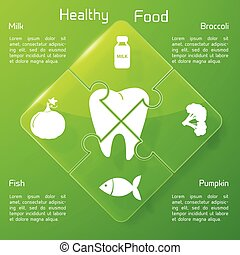 Healthy Food Infographics - Healthy food infographics with...