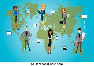 Global Business. Business concept