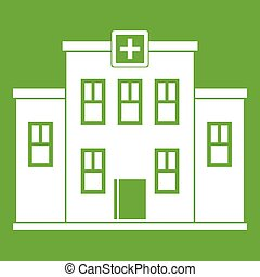 City hospital building icon green