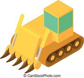 Boggy bulldozer icon, isometric 3d style - Boggy bulldozer...