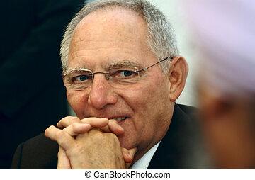 Wolfgang Schaeuble Minister BRD - Wolfgang Schaeuble, a...