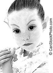 Alien Girl Illustration - Illustration photograph of black...