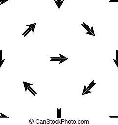 Big arrow pattern seamless black - Big arrow pattern repeat...